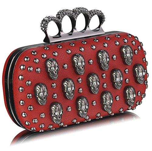 TrendStar - Cartera de mano para mujer Rojo - Rot S2