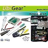 UbiGear Cable Tester +Crimp Crimper +100 RJ45 CAT5 CAT5e Connector Plug Network Tool Kits (Premium568)