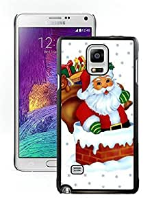 2014 Latest Santa Claus Black Samsung Galaxy Note 4 Case 36