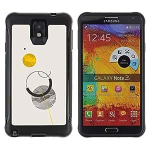 Suave TPU GEL Carcasa Funda Silicona Blando Estuche Caso de protección (para) Samsung Note 3 / CECELL Phone case / / Sun Planets Moon Sky Minimalist /