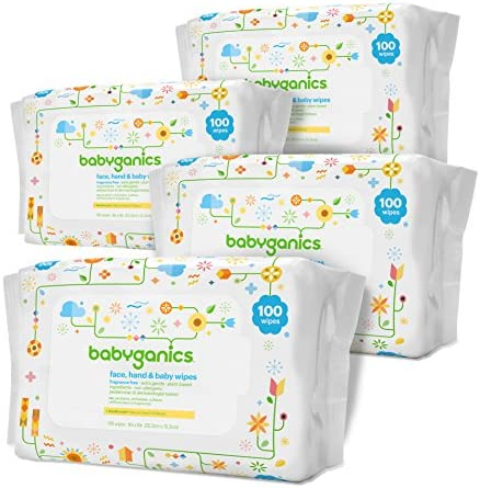 51n08JeUzbL. AC - Babyganics Baby Wipes, Unscented, 400 Count, (5 Packs Of 80)