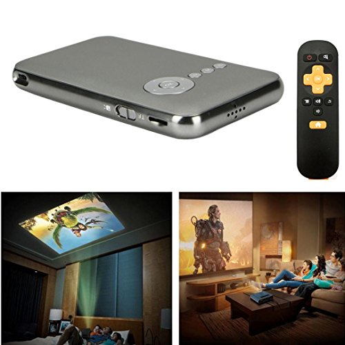 Mini Projector, Ikevan Android Projector Ultra-Thin Home Theater Mini Portable Wifi Smart DLP Projector (Grey) by Ikevan (Image #4)