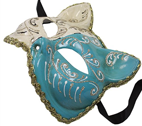 Uniton Venetian Cat Mask (Light Blue)