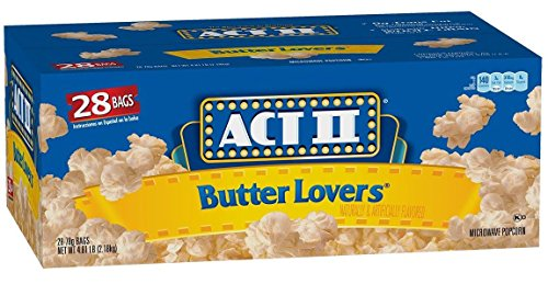 ACT II Popcorn Butter Lovers, 2.75 oz Microwavable (Pack of 56)