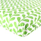 Luvable Friends 100% Woven Cotton Crib Sheet, Green Leaf (Discontinued by Manufacturer)