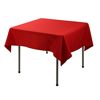 E TEX Square Tablecloth U2013 52 X 52 Inch   Red Square Table Cloth For