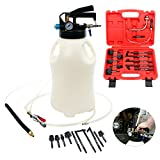 8milelake 10 Liter Pneumatic ATF Oil and Liquid Extractor with 14 pcs ATF Adapters / Refill System Kit
