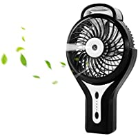 Misting Fan, Dreamiracle Portable Mini Personal Handheld Misting Fan with Water Spray, 3 Speed Rechargeable Cooling Mist Humidifier Fan Indoor Outdoor Camping Travel, Black