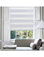 KELIXU Horizontal Window Shade Blind Zebra Dual Roller Blinds Day and Night Blinds Curtains,Easy to Install
