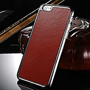 "10 pcs/lot Luxury PU Leather Case For iPhone 6 6G 4.7"" Inch Retro Crazy Horse Pattern Plastic Hard Case Wholesale --- Color:Brown"