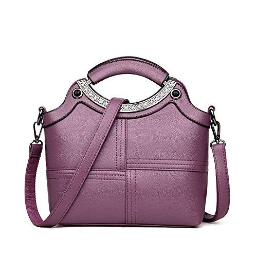 Sac Femme KYOKIM Mode à à Sacs Casual Purple Voyage Main Vintage Sacs Bandoulière EqEt6w