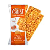Just The Cheese Bars, Crunchy Baked Low Carb Snack Bars - 100% Natural Cheese. High Protein and Gluten Free, Aged Cheddar, Pack of 12