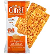 Just the Cheese Bars 12-pack, Crunchy Baked Low Carb Snack Bars. 100% Natural Cheese. High Protein and Gluten Free (Aged Cheddar)