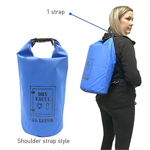 3 Bag Set - DRY VAULT – DRY BAG SETS – 500D PVC Tarpaulin – 20L, 10L, 5.8L with shoulder straps - WEATHERPROOF - WATERPROOF BAGS - BEST DEAL ON AMAZON - 100% Guaranteed -3 QUALITY Bags for Price of 1 by EasyGoProducts (Image #4)