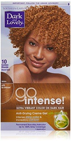 SoftSheen-Carson Dark and Lovely Go Intense Ultra Vibrant Color on Dark Hair, Golden Blonde 10 by Dark & Lovely