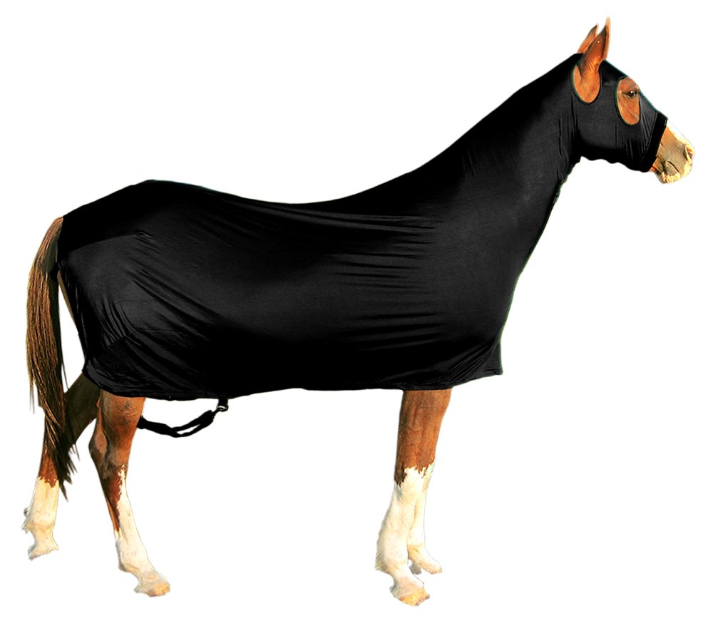 Derby Originals Lycra Full Body Horse Sheets with Neck Cover, Black, Large by Derby Originals