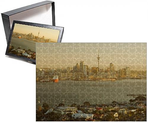 Photo Jigsaw Puzzle of Devonport, Auckland skyline and Waitemata