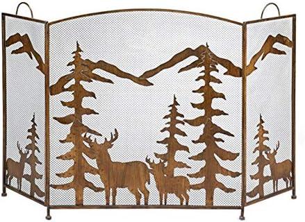 暖炉/ガス火災/ログウッドバーナー、メッシュカバー付きソリッドベビーペット安全保護フェンス、高さ81cmのゴールド暖炉スクリーン (Color : Gold, Size : 76×33×81cm)