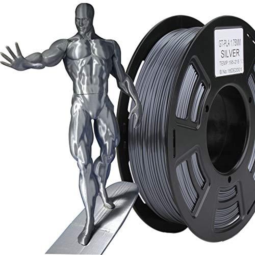 Stronghero3D 3D Printing PLA Filament 1.75mm Metal Dark Grey/Gray Silver Net Weight 1KG Accuracy +/-0.05mm (New Premium)
