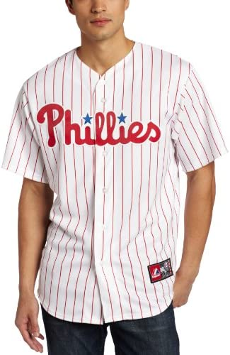 Majestic MLB Philadelphia Phillies Roy Halladay Home Replica Jersey, Weiß/Rot