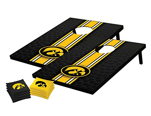 Wild Sports NCAA College Iowa Hawkeyes Tailgate Toss Bean Bag Game Set, 36