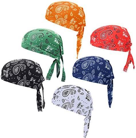 Doo Rag Bicycle Skull Caps Helmet Liner Cooling Hat Cap Summer Sweat Wicking Beanie Cap Hat for Women /& Men