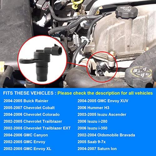 Camshaft Position Sensor, Cam Sensor Replaces 213-1557, 2131557, 12584079  for 2004-2006 Chevy Colorado GMC Canyon, 2002-2005 Chevy Trailblazer GMC