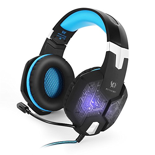 YAOkxin Games Headset Gaming Headphone with Mic Stereo Bass Breathing LED Light for PC or Computer Gamer Vibration Function Professional