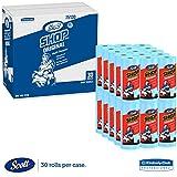 Scott Shop Towels, Roll 10 2/5 x 11, Blue (55 Sheets/Roll, 30 Rolls/Carton)