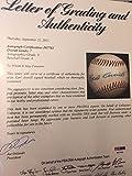 Earl Averill Single Signed Baseball PSA/DNA Certified 8 Signature Hof Nm-Mt