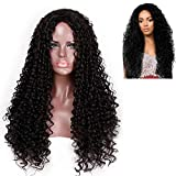 HK 30 Inches Long Synthetic Ombre Afro Curly Wigs for Women Black African