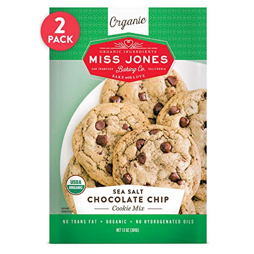 Miss Jones Baking Organic Cookie Mix, Sea Salt Chocolate Chip (Pack of 2)