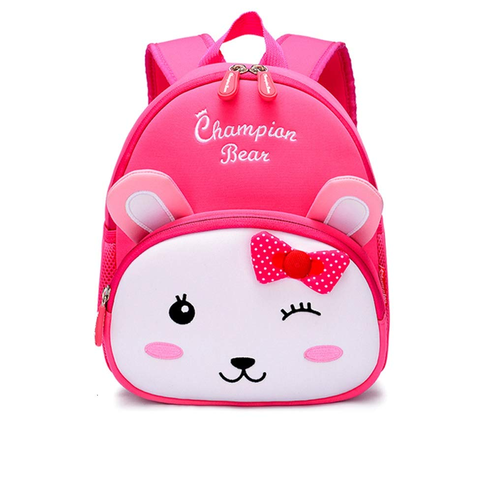 QWEER Anti-Lost Shoulder Bag Diving Material Anti-Lost Bag Kindergarten Boys and Girls 1-3-6 Years Old Cute Little School Bag Children Backpack Soft Breathable Large Capacity Design