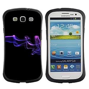 Fuerte Suave TPU GEL Caso Carcasa de Protección Funda para Samsung Galaxy S3 I9300 / Business Style Abstract smoke