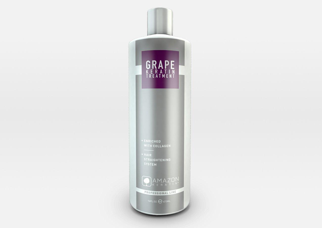 Amazon Professional Line Grape Keratin Hair Straightening Treatment 32oz