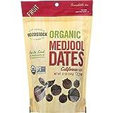 Woodstock Fruit - Organic Medjool Dates - California - 12 oz - case of 8 - Vegan - Non GMO