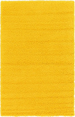 Cheap  A2Z Rug Cozy Shaggy Collection 5x8-Feet Solid Area Rug - Tuscan Sun..