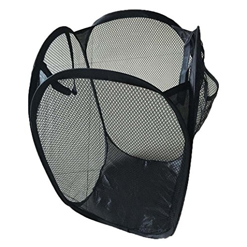 Foldable Pop-Up Laundry Hamper with Side Pocket, Washing Laundry Basket Bag Mesh Storage for College, Student Dorm