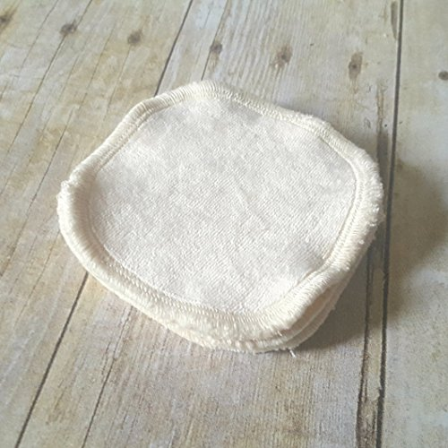 Set of 5 Ivory Bamboo Velour Makeup Remover Pads