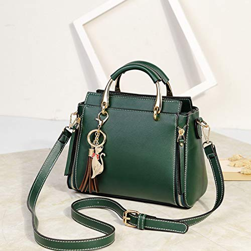 Scuro Green Con Cerniera A Hungrybubble Retrò color Verde Tracolla Semplice Borsa Pu In Nappa Quadrato Black rAY0Z7wYq