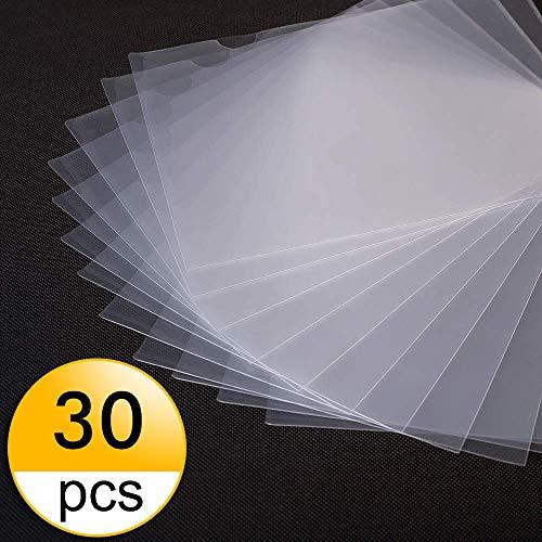 Salare 30 Pack Clear File Folders US Letter Size Document Folder A4 Size Transparent Safe Project Pocket ()