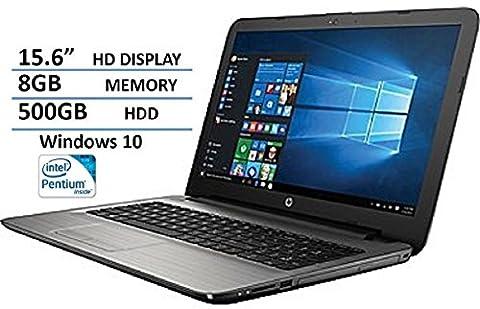 HP High Performance Laptop PC 15.6-inch HD+ Display Intel Pentium Quad-Core Processor 8GB RAM 500GB HDD WIFI DVD HDMI Bluetooth Windows (Nextbook 7 Tablet 16gb)
