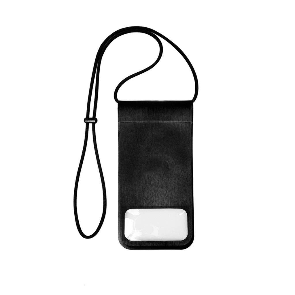 Lsslsd Mobile Phone Waterproof Bag Sealed Mobile Phone Bag Diving Set Universal Swimming Camera Underwater Touch Screen Hanging Neck Bag (Color : Black)