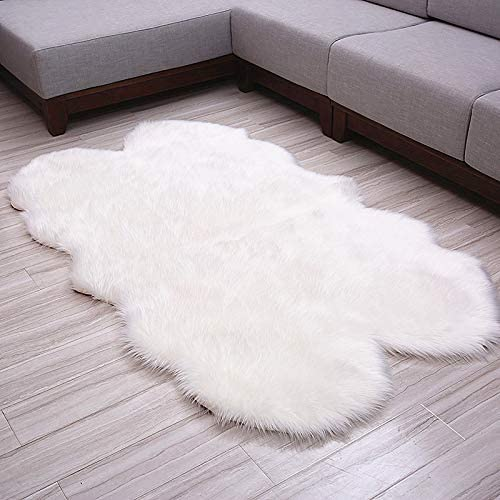 Fashion Suit Luxury Premium Faux Fur Sheepskin Fluffy Shaggy Decorative Rug Couch Chair Cover Seat Pad Sofa Bedroom Floor Area Rugs
