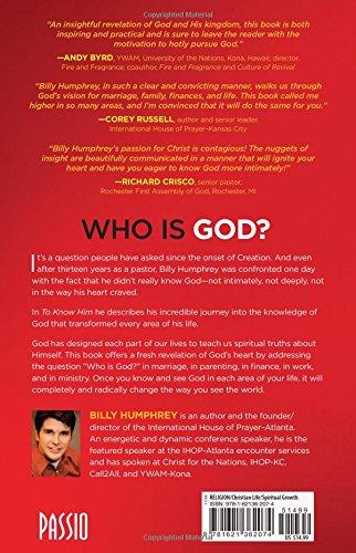 To Know Him: Billy Humphrey: 9781621362074: Books - Amazon ca