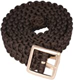 Bison Designs Double Cobra Paracord Survival Belt with Gunmetal Finish Buckle