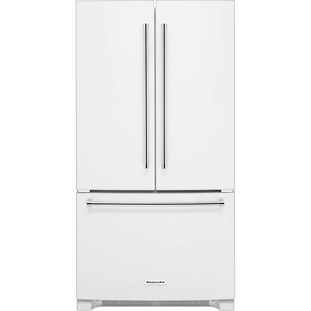 KitchenAid KRFC300EWH KRFC300EWH 20 Cu. Ft. White Counter-Depth French Door Refrigerator