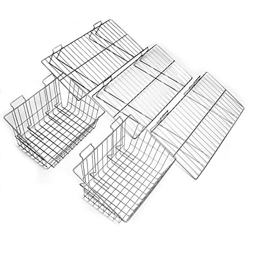 Proslat Heavy Duty Steel Shelf and Basket Combo Pack (5-Piece) by Proslat