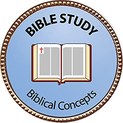 Bible Study - Biblical Concepts Award, 1 inch dia Gold Pin