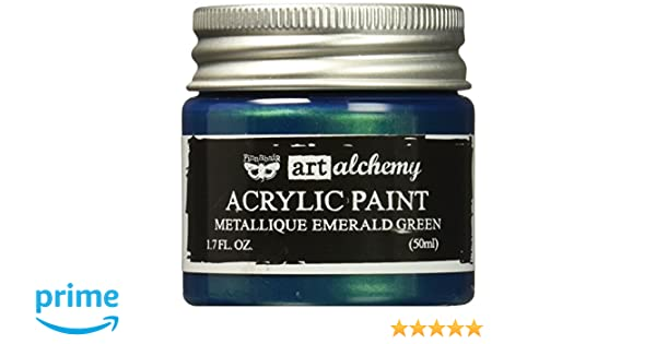 Prima Marketing Pintura Finnabair Art Alchemy de acrílico, 50 ml líquidos, de Color Verde Esmeralda metálico
